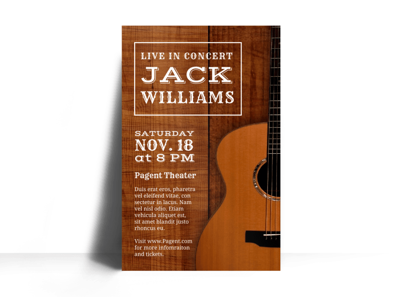 Live Country Concert Poster