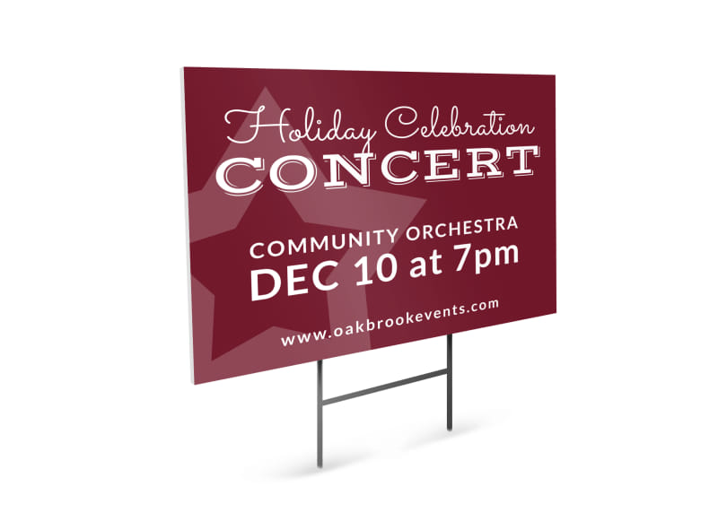 Holiday Concert Yard Sign Template