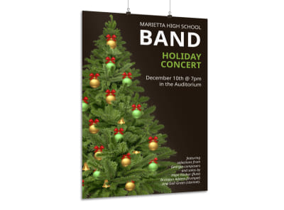 Holiday Concert Poster Template preview