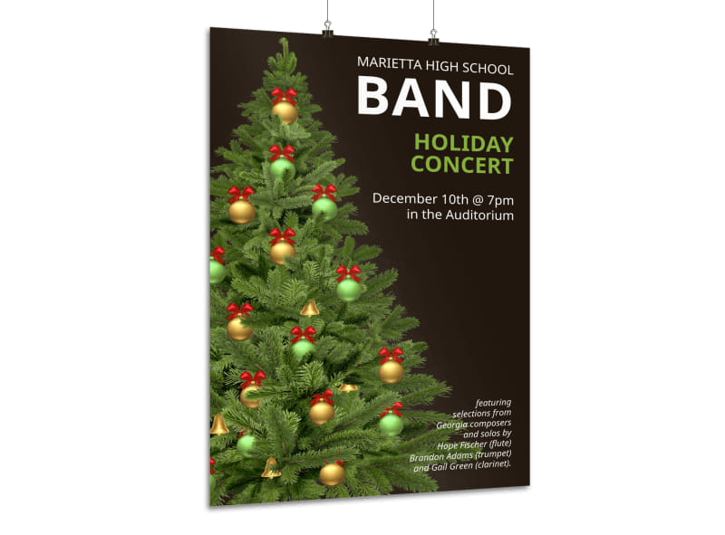 Holiday Concert Poster Template
