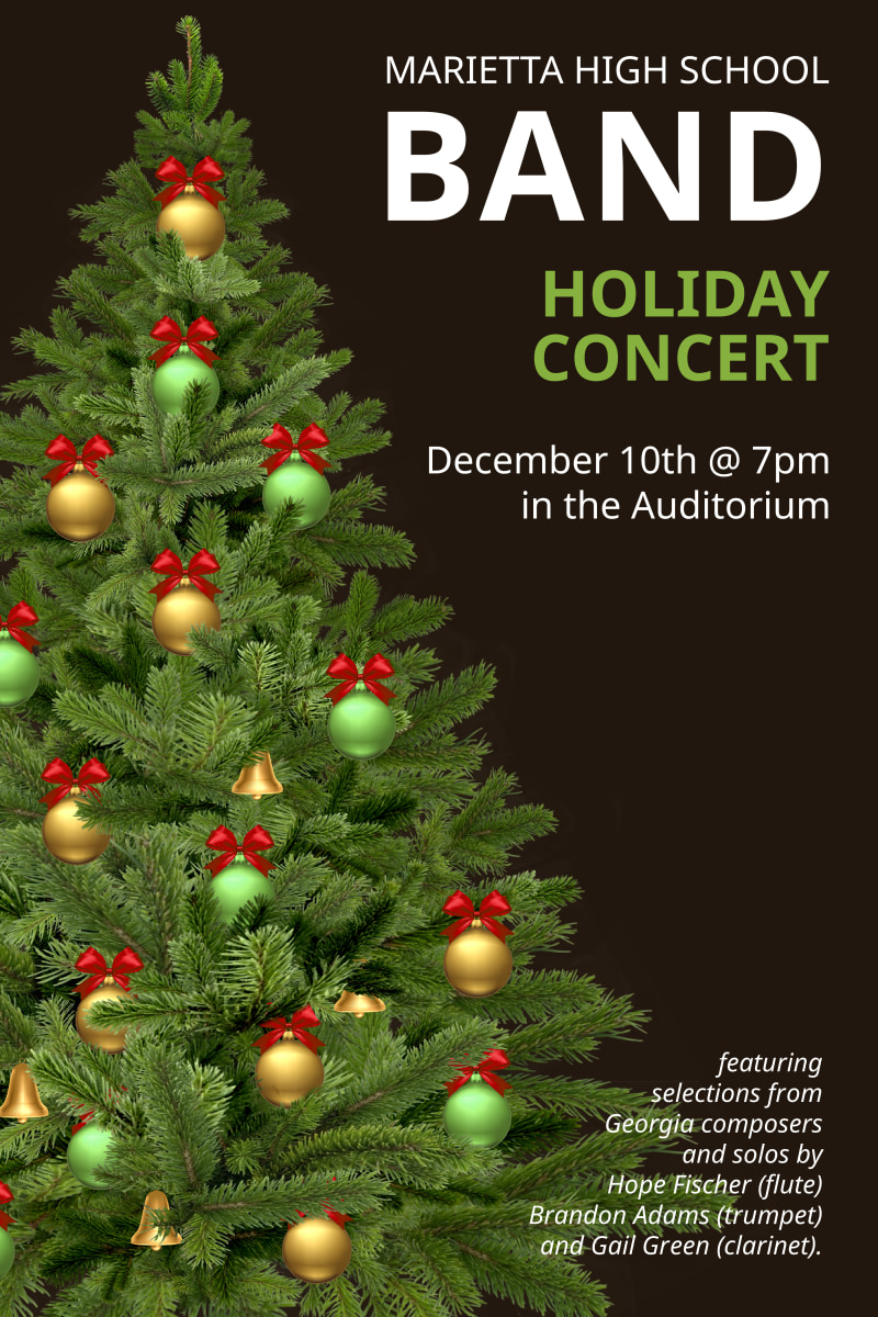 Holiday Concert Poster Template Preview 2