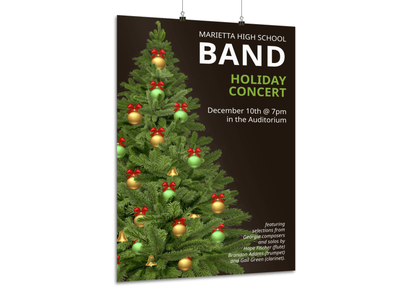 Holiday Concert Poster Template Preview 1