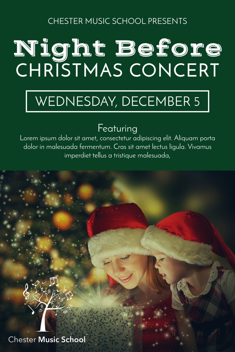 Christmas Concert Poster Template Preview 2