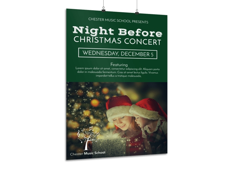 Christmas Concert Poster Template Preview 3