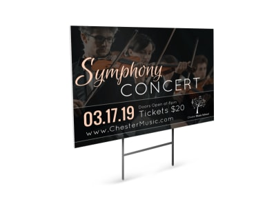 Symphony Concert Yard Sign Template preview