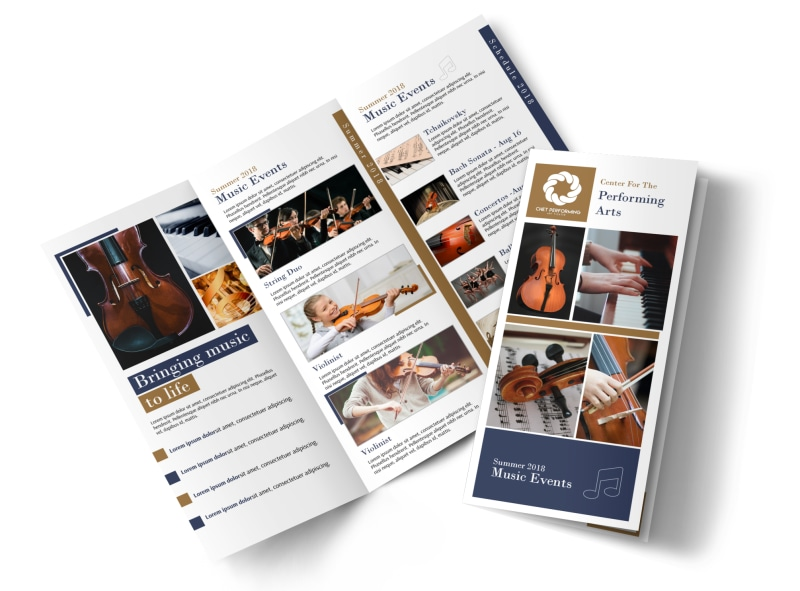 Performing Arts Tri-Fold Brochure Template Preview 4