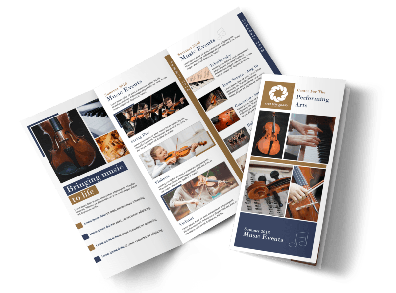 Performing Arts Tri-Fold Brochure Template Preview 1