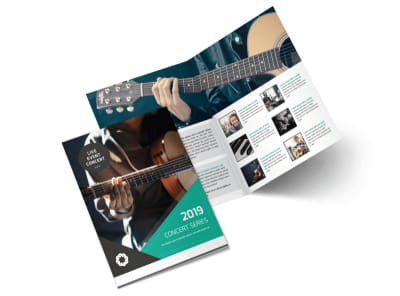 Live Concert Event Bi-Fold Brochure Template preview