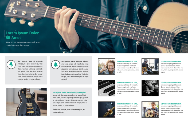 Live Concert Event Bi-Fold Brochure Template Preview 3