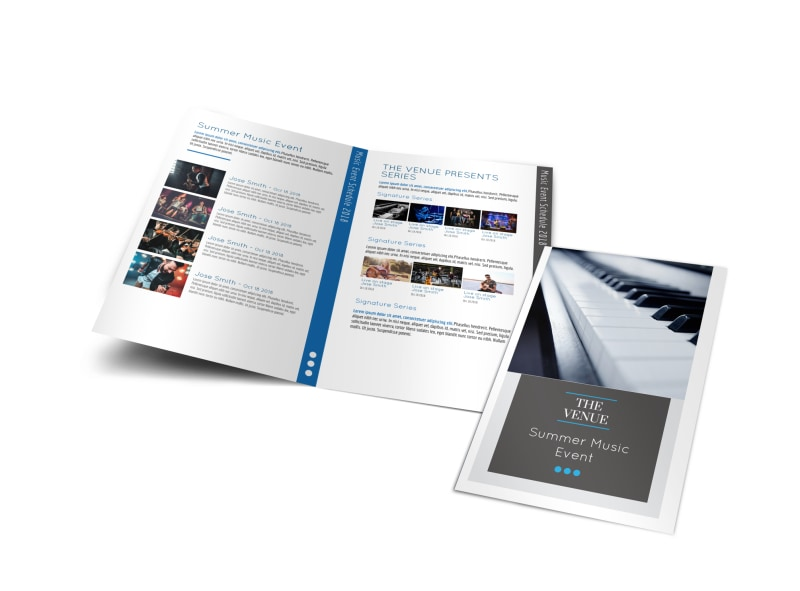 Summer Music Venue Bi-Fold Brochure Template Preview 4
