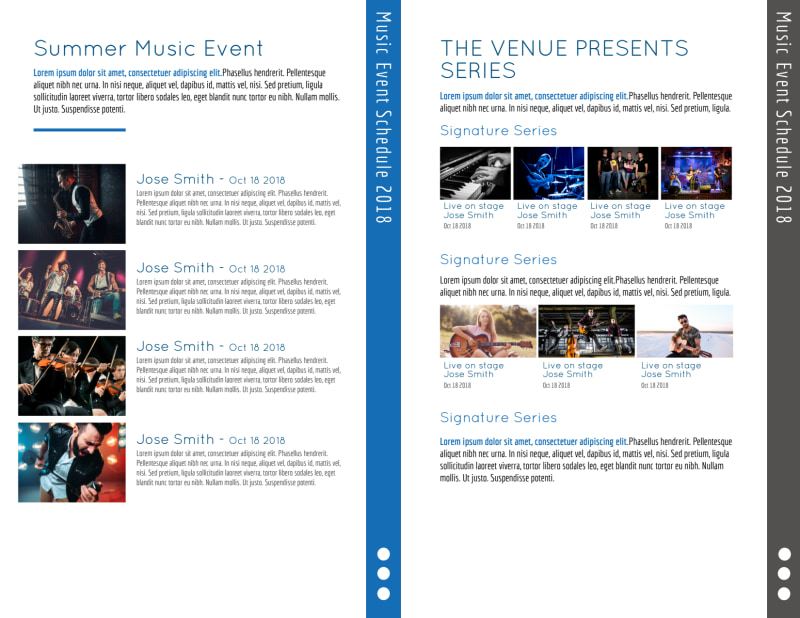 Summer Music Venue Bi-Fold Brochure Template Preview 3