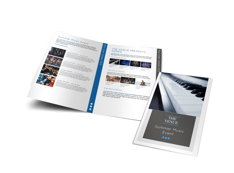 Summer Music Venue Bi-Fold Brochure Template Preview 1