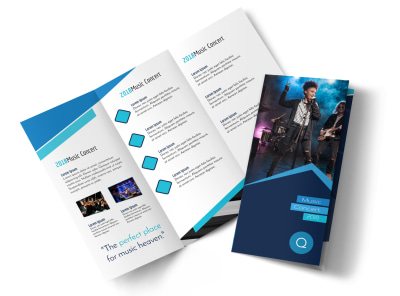 Concert Tri-Fold Brochure Template preview