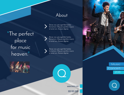 Concert Tri-Fold Brochure Template Preview 1