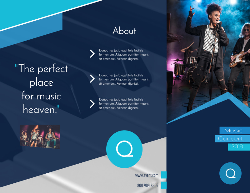 Concert Tri-Fold Brochure Template Preview 2