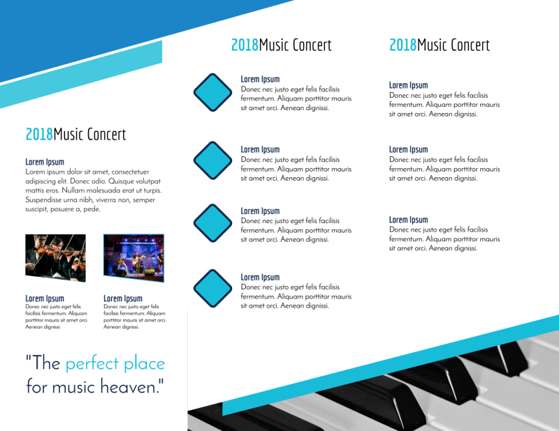Concert Tri-Fold Brochure Template Preview 3