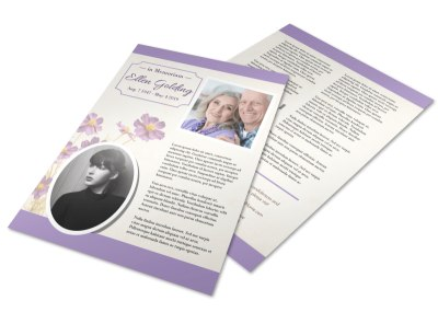 Funeral Memory Flyer Template preview