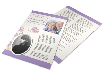 Funeral Flyer Templates Template Preview