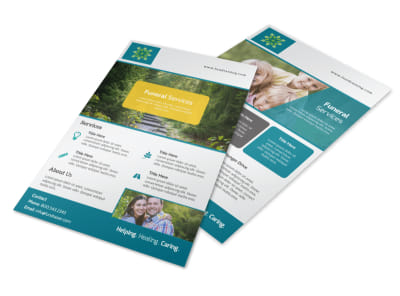 Funeral Services Flyer Template preview