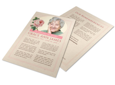 Elegant Funeral Flyer Template preview