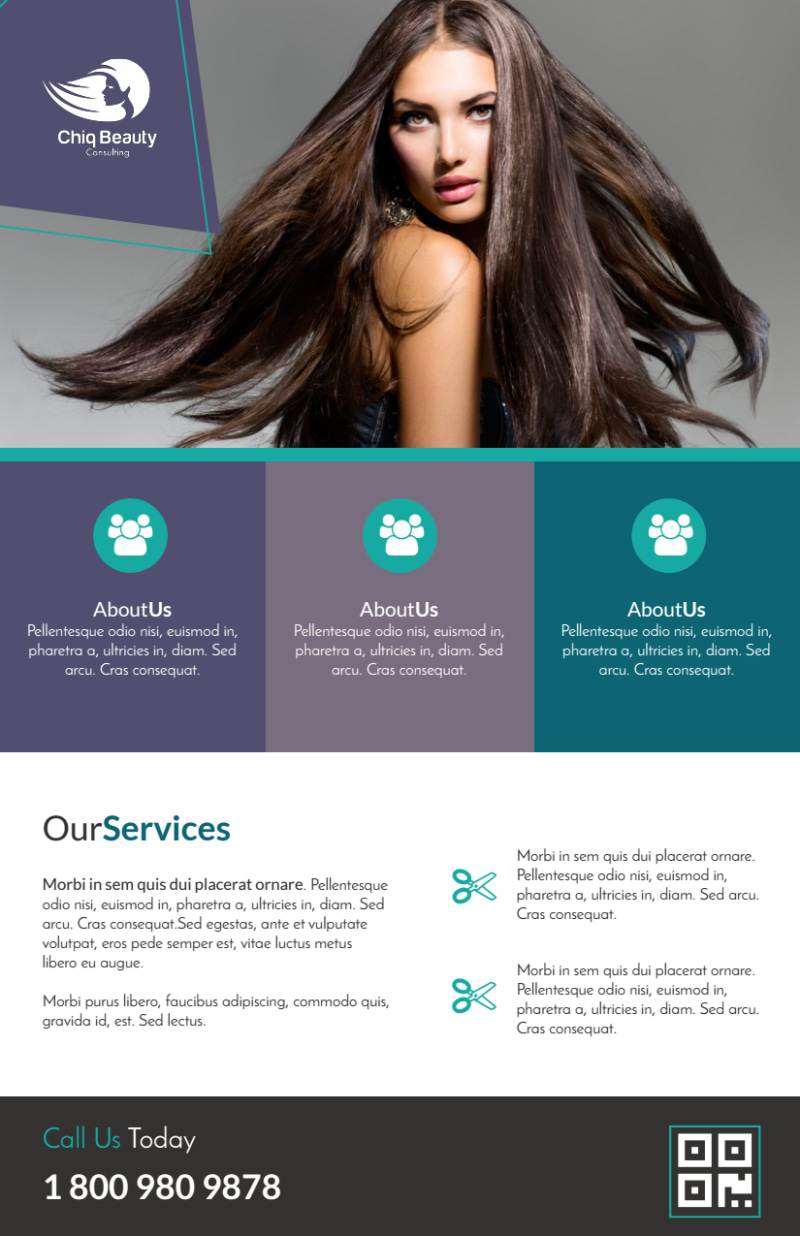 Awesome Hair Stylist Flyer Template Preview 3