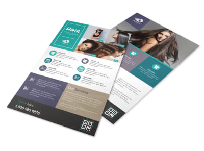 Awesome Hair Stylist Flyer Template preview