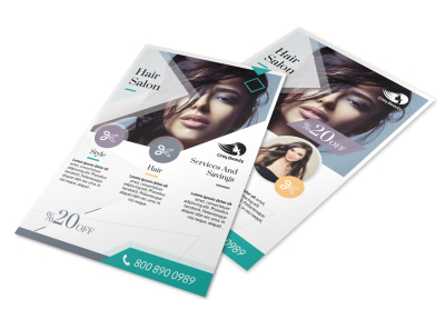 Hair Salon Services Flyer Template preview
