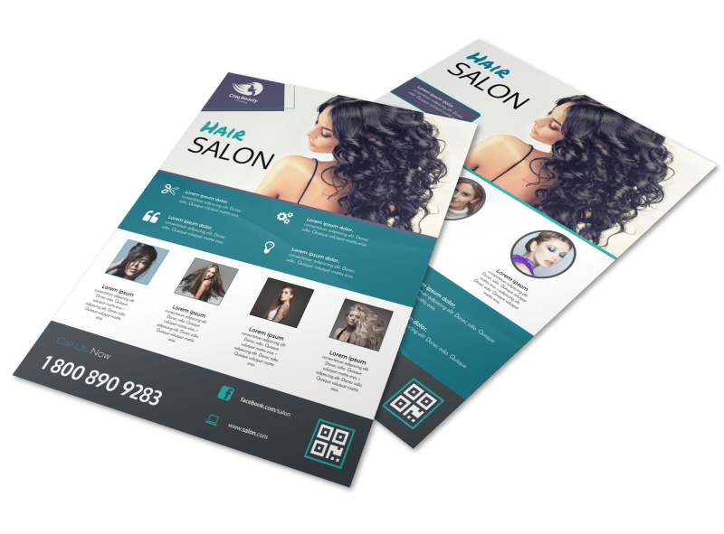 Beautiful Hair Stylist Flyer Template Preview 1
