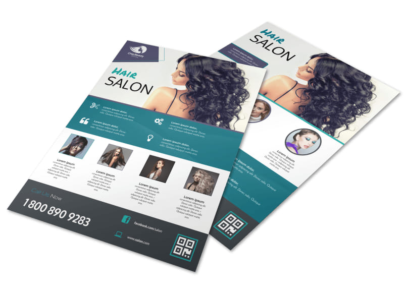 Beautiful Hair Stylist Flyer Template