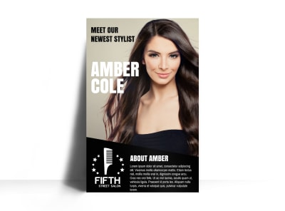 Featured Hair Stylist Poster Template preview
