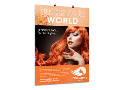 Beautiful Hair Stylist Poster Template