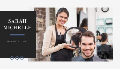 Hair Stylist Business Card Template Preview 2