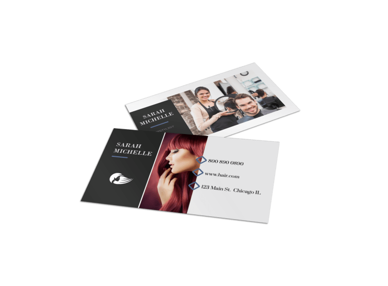 Hair Stylist Business Card Template Preview 1