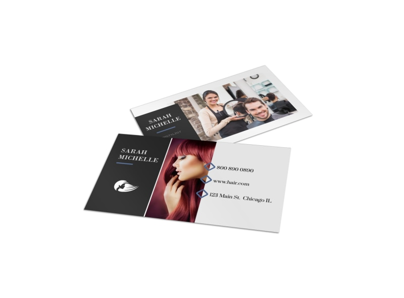Hair Stylist Business Card Template Preview 4
