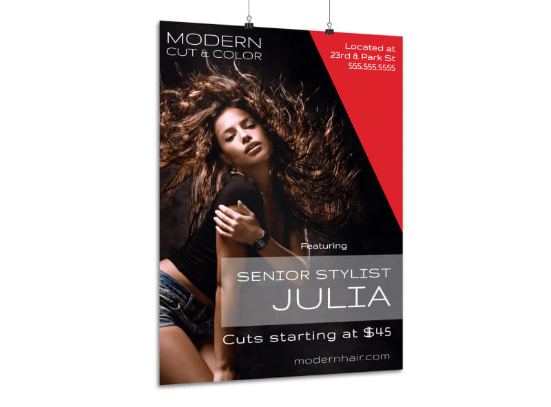 Modern Hair Stylist Poster Template