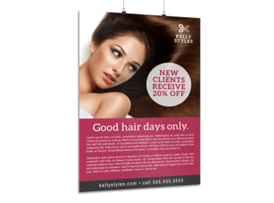 Hair Stylist Promo Poster Template preview
