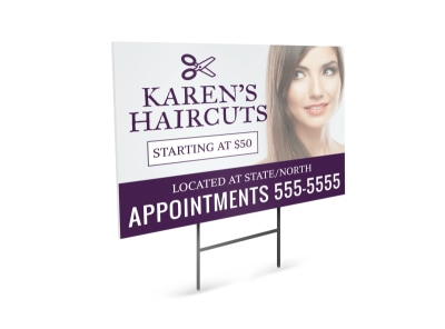 Haircut Yard Sign Template