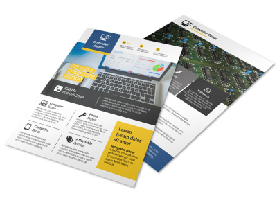 Professional Computer Repair Flyer Template preview