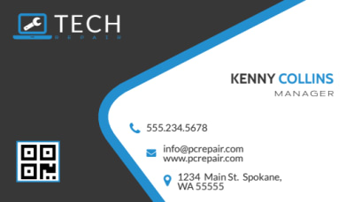 Awesome Computer Repair Business Card Template Preview 1