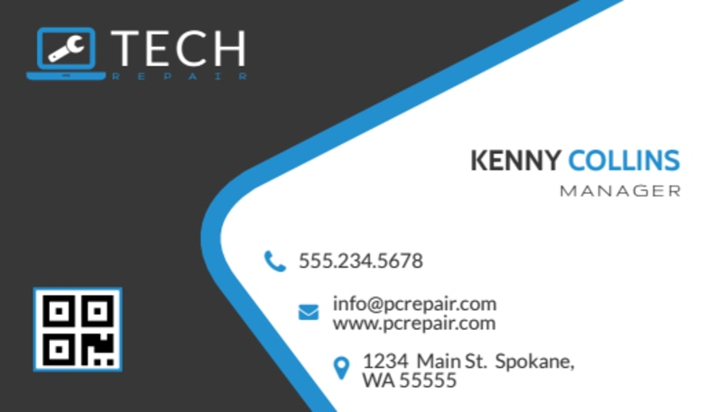 Awesome Computer Repair Business Card Template Preview 2