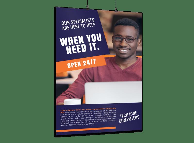 Tech Computer Repair Poster Template Preview 1