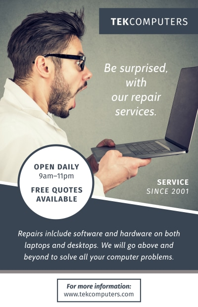 Computer Repair Service Poster Template Preview 1