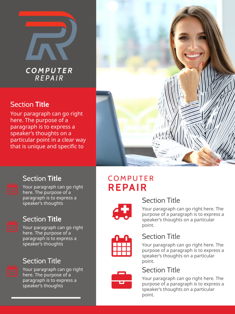 Modern Computer Repair Poster Template Preview 2