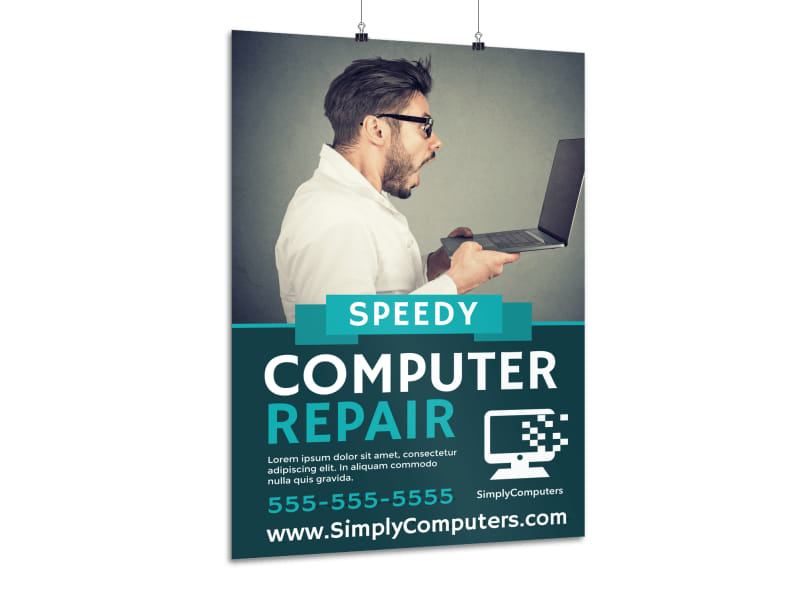 Speedy Computer Repair Poster Template