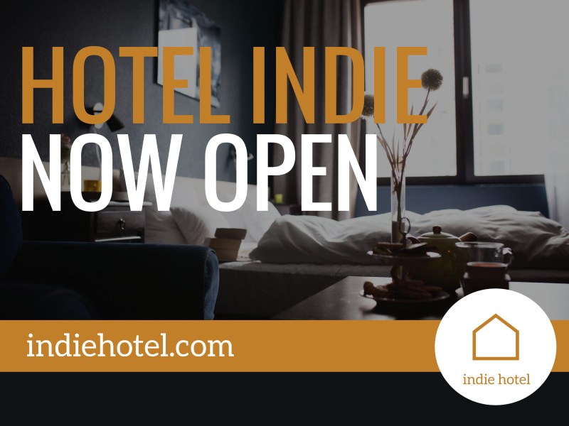 Hotel Now Open Yard Sign Template Preview 2