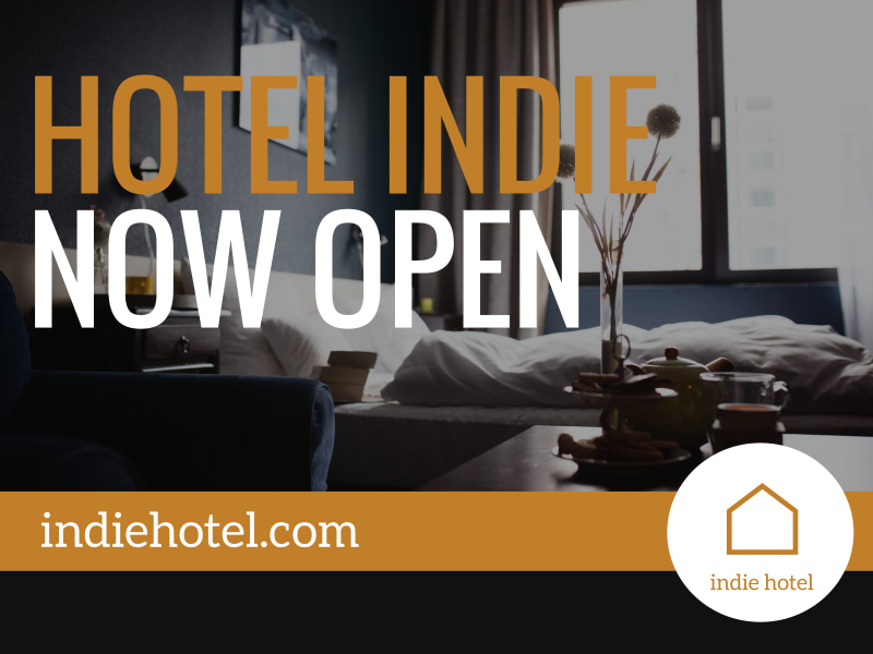 Hotel Now Open Yard Sign Template Preview 3