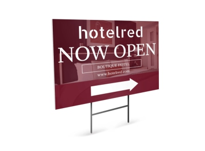 Hotel Opening Yard Sign Template preview