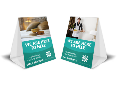 Hotel Guest Service Table Tent Template preview