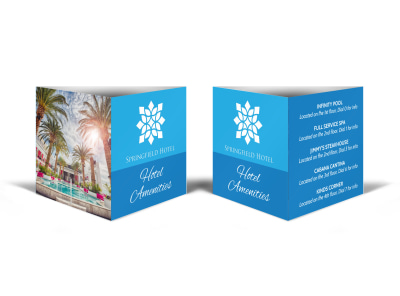 Hotel Amenities Table Tent Template preview