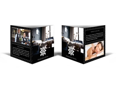 Luxury Hotel Table Tent Template preview